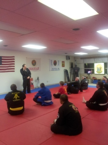Hank speaking in Chicago - at opening of new dojo.