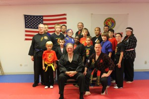 Hank at the opening of Master Moore's dojo in Chicago.